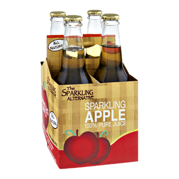 Alpenglow The Sparkling Alternative Sparkling Apple 100% Pure Juice - 4 CT