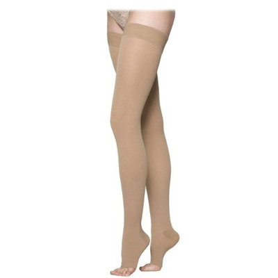 Sigvaris 860 Select Comfort Series 20-30 mmHg Open Toe Unisex Thigh High Sock Size: S4