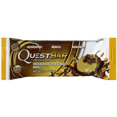 Quest Bar Chocolate Peanut Butter Protein Bar, 2.12 oz, (Pack of 12)