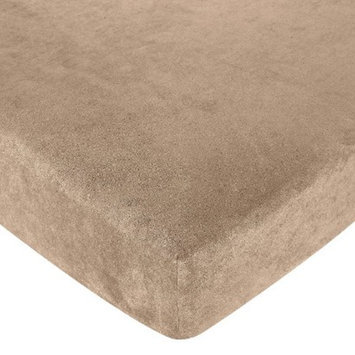 Jo Jo Designs Monkey Fitted Crib Sheet - Taupe