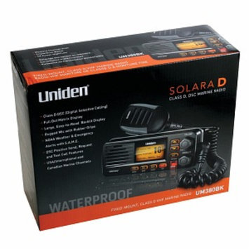Uniden Um380bk Fixed Mount Vhf 2-way Marine Radio, Black, 1 ea