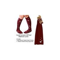 Maggie's Organic Scarf n Sock Gift Set (Maroon /