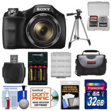 Sony Cyber-Shot DSC-H300 Digital Camera with 32GB Card + Batteries & Charger + Case + Tripod Kit