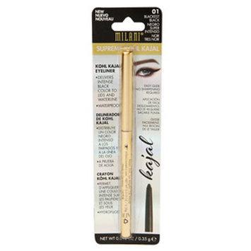 Milani Supreme Kohl Kajal Eyeliner Pencil, Blackest Black, .01 oz