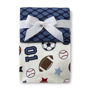 Nojo NoJo Infant Boy's 3 Pack Receiving Blankets - CROWN CRAFTS INFANT PRODUCTS, INC.