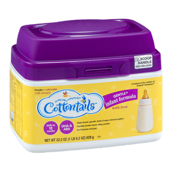Cottontails Gentle Infant Formula with Iron