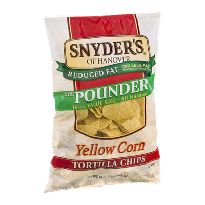Snyder's Of Hanover Reduced Fat Yellow Corn Tortilla Chips The Pounder
