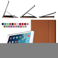 Fintie Smart Book Cover Case Ultra Slim Light Weight Stand Supports Three Viewing Angles for Apple iPad Air, Brown