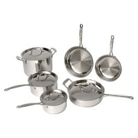 BergHOFF Earthchef 18/10 Stainless Steel 10 Piece Premium Copper Clad