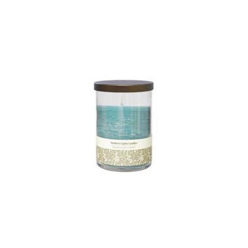 OCEAN BREEZE by Ocean Breeze ONE 4.5 inch GLASS PILLAR SCENTED CANDLE.