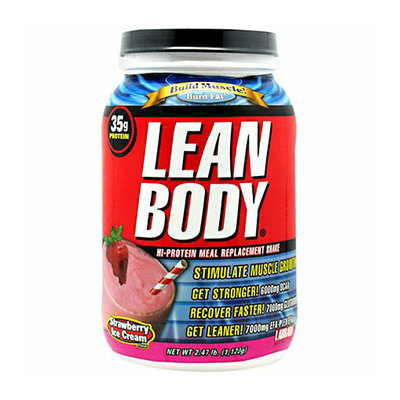 Labrada Nutrition Lean Body Hi-Protein Meal Replacement Shake Powder Strawberry