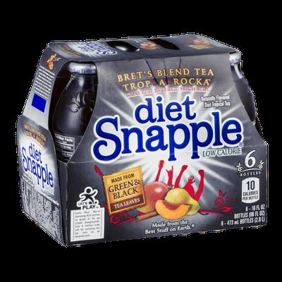 Diet Snapple Bret's Blend Tea Trop-A-Rocka - 6 CT