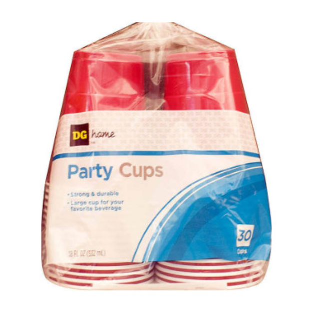 DG Home Plastic Party Cups - Red, 26 ct