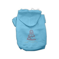 Mirage Pet Products 542509 XXLBBL Peace Tree Rhinestone Hoodies Baby Blue XXL 18