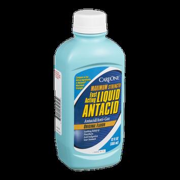 CareOne Maximum Strength Fast Acting Liquid Antacid Original Flavor