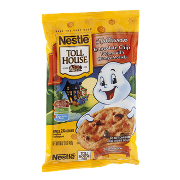 Nestlé Toll House Halloween Chocolate Chip Cookies Topped with Orange Morsels