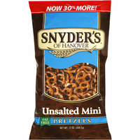 Snyder's of Hanover Unsalted Mini Pretzels