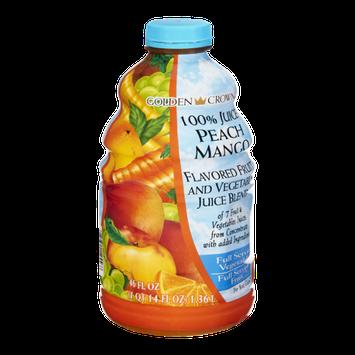 Golden Crown 100% Juice Peach Mango Flavored Fruit and Vegetable Juice Blend