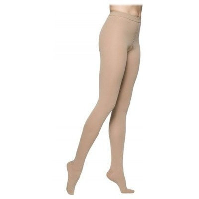 Sigvaris 860 Select Comfort Series 30-40 mmHg Women's Closed Toe Pantyhose Size: M4, Color: Dark Navy 08