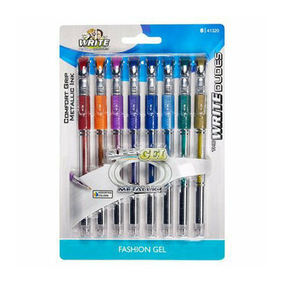 Mega Brands The Write Dudes SuperGel Multicolored Metallic Ink Fashion Gel Pens 8-