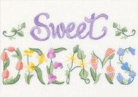 Dimensions Flowery Sweet Dreams Mini Crewel Kit, 7