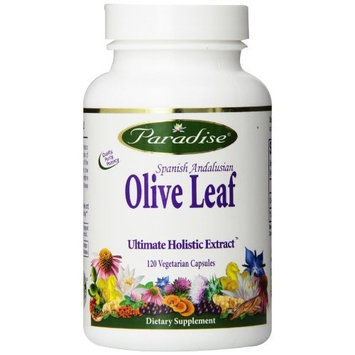 Paradise Herbs Olive Leaf Vegetarian Capsules, 120 Count