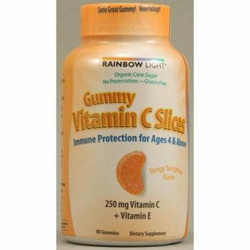 Rainbow Light Gummy Vitamin C Slices Tangy Tangerine 250 mg 90 Gummies Slices