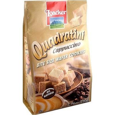 Loacker Quadratini Cappuccino Wafer Cookies (220g)