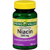 Wal-mart Stores, Inc. Spring Valley Niacin Dietary Supplement Tablets, 250mg, 100 count