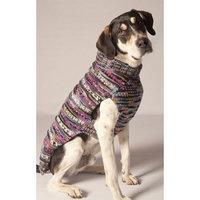 Chilly Dog Woodstock Dog Sweater Color: Purple, Size: Medium