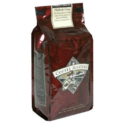 Coffee Masters Flavored Coffee, Highlander Grogg, Ground, 12-Ounce Bags (Pack of 4)