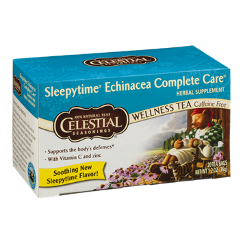 Celestial Seasonings Wellness Tea Sleepytime Echinacea Complete Care - 20 CT