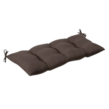 Pillow Perfect Outdoor Tufted Bench/Loveseat/Swing Cushion - Brown