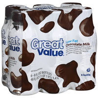 Great Value Low Fat Chocolate Milk, 6ct