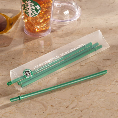 Starbucks Set of 4 Grande Cold Cup Straws