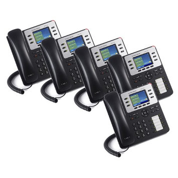Grandstream GXP2130 (5-Pack) 3 Line Enterprise IP Phone