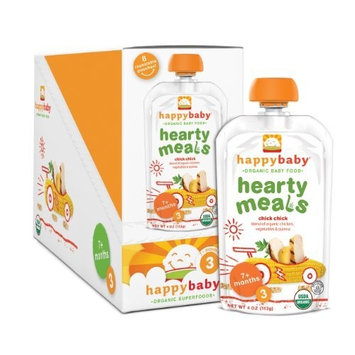 Happybaby Happy Baby Organic Baby Food 3 Hearty Meals, Chick Chick, 4 oz (Pack of 16)