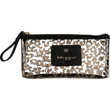 Boulevard Hello Gorgeous! Pixie Glass Bag Leopard with Black Leather - Boulevard Ladies Cosmetic Bags