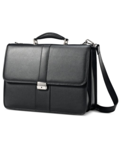 Samsonite Leather Flapover Briefcase