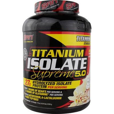 San Titamium Isolate Supreme 5.0 Vanilla Sundae 4.94 lbs