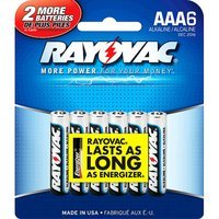 Ray-o-vac 6 Pack Aaa Alkaline Battery 824-6F