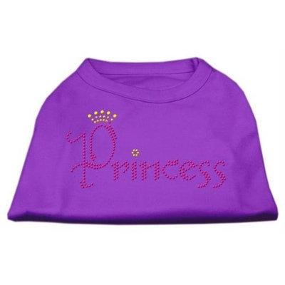 Mirage Pet Products 5267 LGPR Princess Rhinestone Shirts Purple L 14