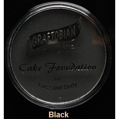Graftobian Cake Eye Liner, .18 oz. Professional Size - Jet Black