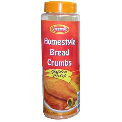 Osem Golden Crisp Bread Crumbs, 15.0-Ounce Packages (Pack of 12)