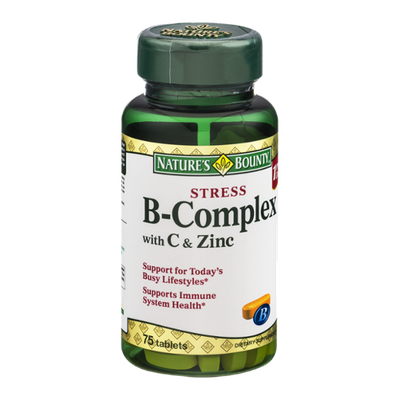 Nature's Bounty Stress B-Complex with C & Zinc Tablets - 75 CT