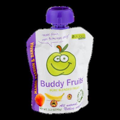 Buddy Fruits Pure Blended Fruit Mango Passion & Banana