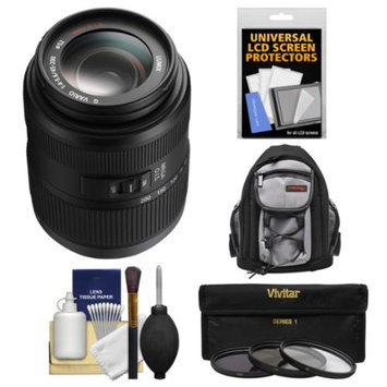 Panasonic Lumix G Vario 45-200mm f/4.0-5.6 OIS Zoom Lens with 3 UV/CPL/ND8 Filters + Backpack + Kit for G5, G6, GF5, GF6, GH3, GH4, GM1, GX7 Cameras