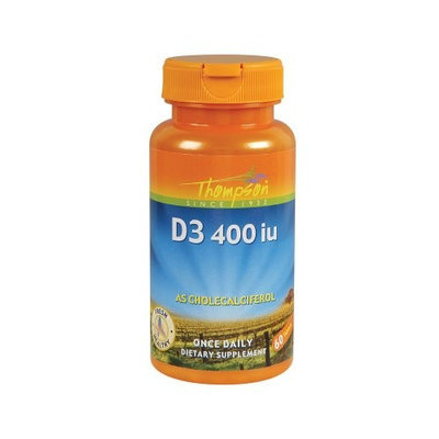 Thompson Nutritional Products D 400 Cholecalciferol 60 Tabs