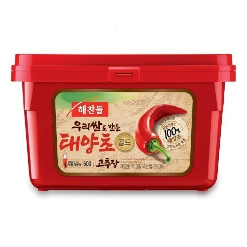 CJ Haechandle Korean Chili Pepper Paste Gochujang, 17.63-Ounce Containers (Pack of 5)