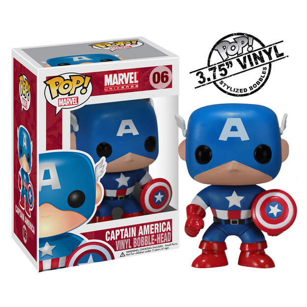 Funko Captain America Marvel Pop! Vinyl Bobble Head